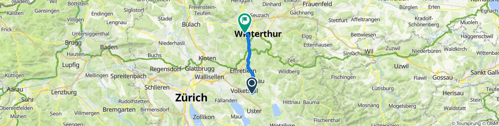 Chrattengass 21, Gutenswil nach Schlosstalstrasse 139.3, Winterthur