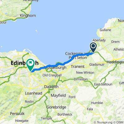 B1377, Longniddry to 21 Clearburn Crescent, Edinburgh