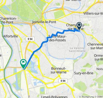 Rue de Musselburgh 26, Champigny-sur-Marne to Carrefour Pompadour, Créteil