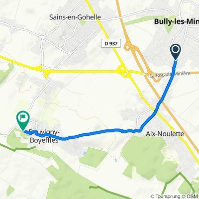 De 160 Rue Jean Jaurès, Bully-les-Mines à 3 Rue Marcel Cachin, Bouvigny-Boyeffles
