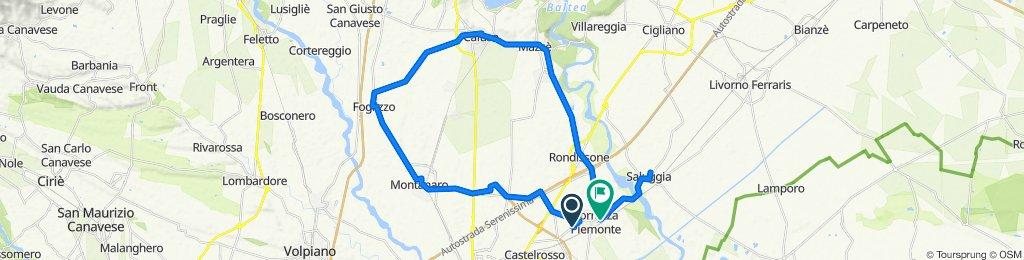 Da SP89, Torrazza Piemonte a Via Virginio Berta 6, Torrazza Piemonte