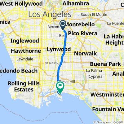 Restful route in Long Beach
