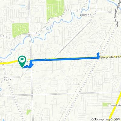 16259 Chatham Dr, Clinton Township to 16262 Chatham Dr, Clinton Township