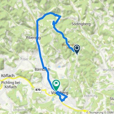 Lobmingbergstraße 68, Voitsberg nach L341 25, Voitsberg