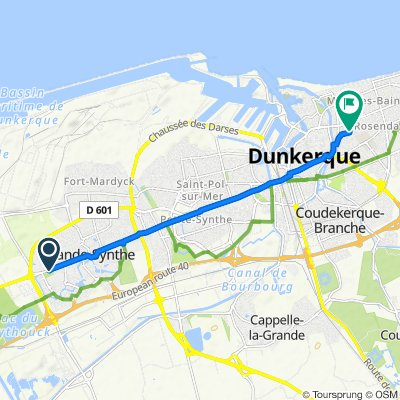 Restful route in Dunkerque