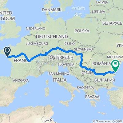 Eurovelo 6 : Atlantik - Schwarzes Meer