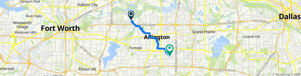 733 Hunters Glen Trail, Fort Worth to 2003 Chalice Rd, Arlington