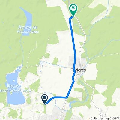 De Unnamed Road, Tournan-en-Brie à D10, Favières