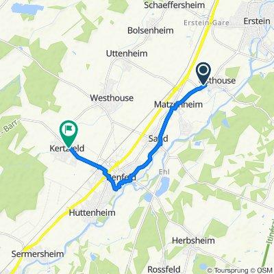 Relaxed route in Kertzfeld