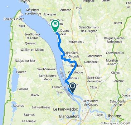 TdF jour 14 (manque 53km pour départ de Camblane)