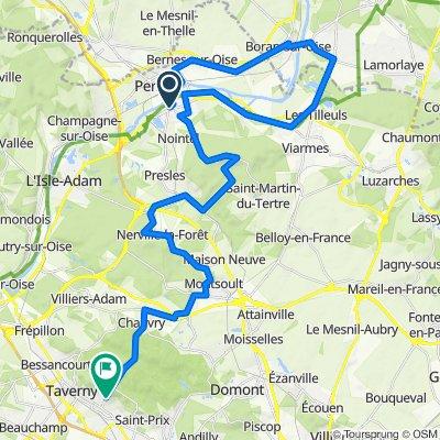 De 25 Rue de Paris, Beaumont-sur-Oise à 67 Rue du Professeur Curie, Saint-Leu-la-Forêt