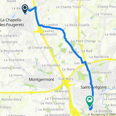Supersonic route in Saint-Grégoire