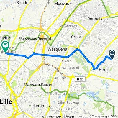 De 59 Rue Edison, Hem à 106 Rue Montgolfier, Marcq-en-Baroeul