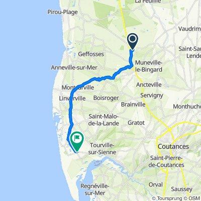 De Le Haut du Bingard, Muneville-le-Bingard à 4 Rue Fernand Lechanteur, Agon-Coutainville