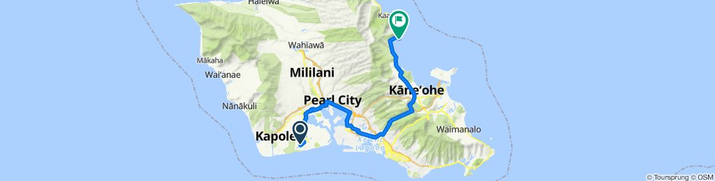 91-1005 Waiʻilikahi St, Ewa Beach to 49-479 Kamehameha Hwy, Kaneohe