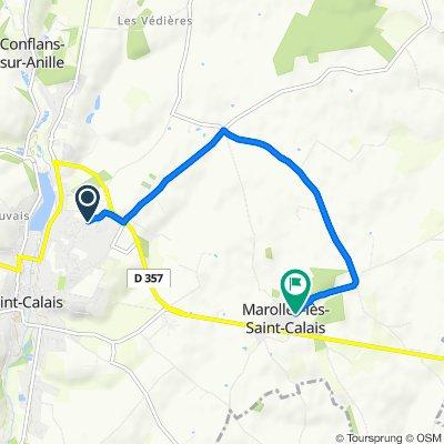 Moderate route in Marolles-lès-Saint-Calais