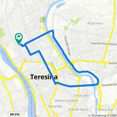 De Rua Espírito Santo, 598, Teresina a Rua Espírito Santo, 1191, Teresina