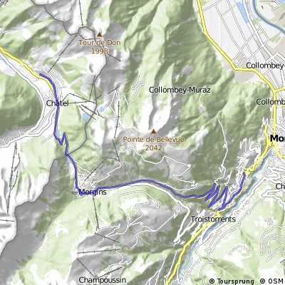 Cycling the Alps Pas de Morgins (1369m)