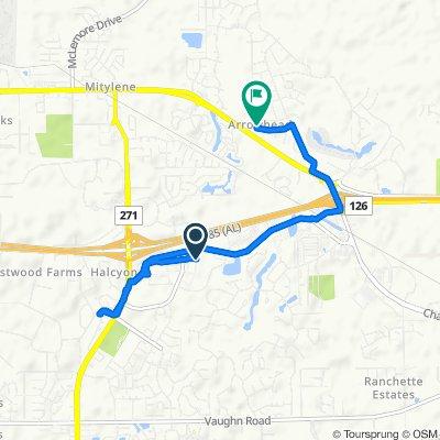 2576 Berryhill Rd, Montgomery to 130 Natchez Dr, Montgomery