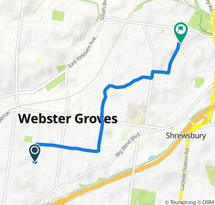 Easy ride in Webster Groves