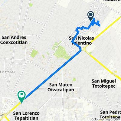 De Circuito Hacienda Salaices, Toluca de Lerdo a Calle Independencia N 4, Toluca de Lerdo