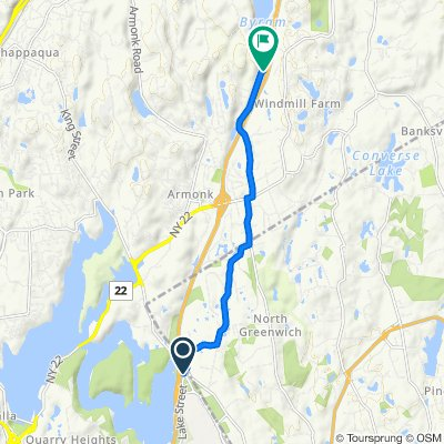 Purchase St, West Harrison to 140–150 Byram Lake Rd, Armonk