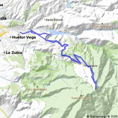 Subida al Veleta - Sierra Nevada, 45 km de subida.