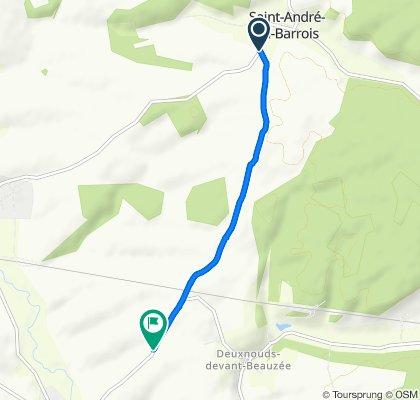 D158 16, Saint-André-en-Barrois to D148, Beausite
