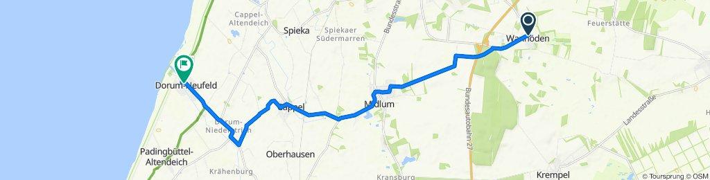 Pickerstraße 75, Nordholz nach Robbenplate 17, Dorum