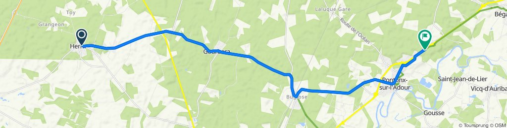 De Avenue des Fleurs 204, Herm à Chemin de l'Herté 1360, Pontonx-sur-l'Adour