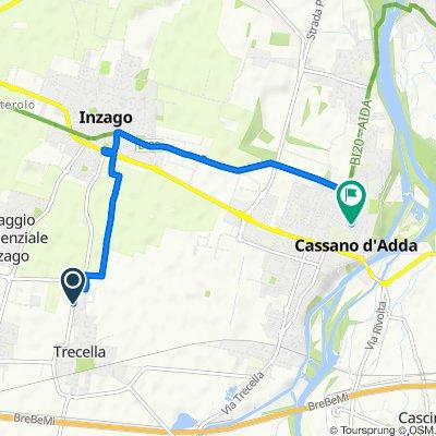 Supersonic route in Cassano d'Adda