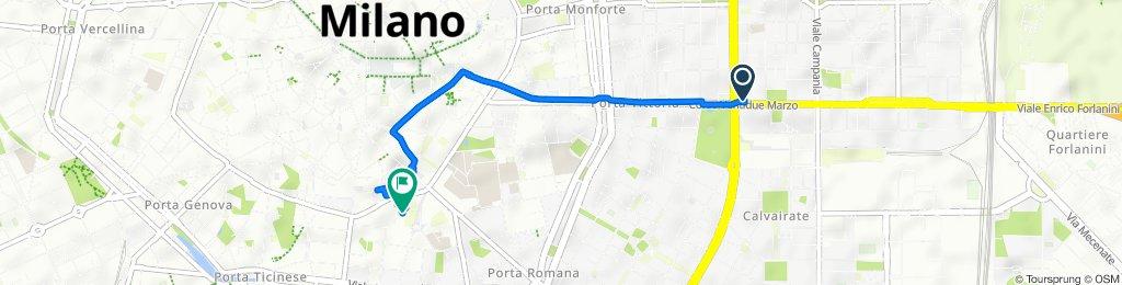 Corso Ventidue Marzo 39, Milano to Via Giuseppe Mercalli 21, Milano
