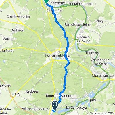 Da Chemin des Prés, Grez-sur-Loing a 37–51 Quai de la Ruelle, Bois