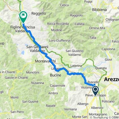 Via Farinata degli Uberti 4, Pieve al Toppo nach Via Prulli 99A, Reggello