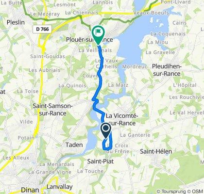 Moderate route in Plouër-sur-Rance