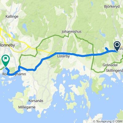 Idrottsvägen, Nättraby to Droppemålavägen, Ronneby