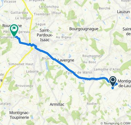 Cracking ride in Montignac-de-Lauzun