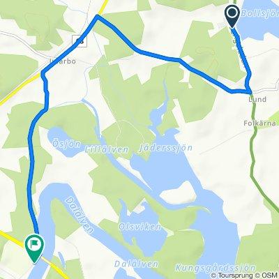 Route to Brunnbäcks Stugby 1–5, Folkärna
