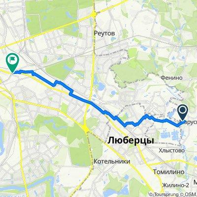 От Заречная улица 33 до ст. м. Нижегородская, Москва