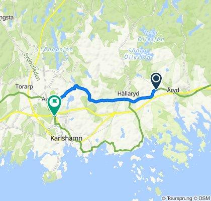 Gamla Riksvägen 479, Trensum to Nyemöllevägen 6, Karlshamn