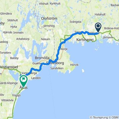 Gamla Riksvägen, Trensum to Köpmannagatan 18, Åhus