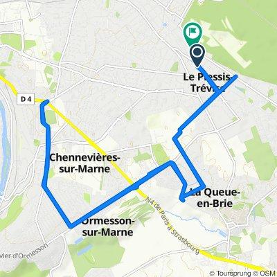 De 12 Avenue Ardouin, Le Plessis-Trévise à Résidence Île Caroline, Le Plessis-Trévise