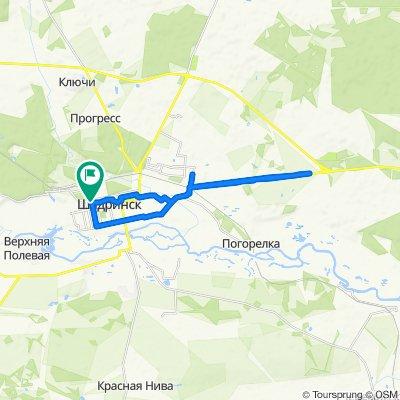 От улица Гагарина 22, Шадринск до улица Гагарина 35, Шадринск