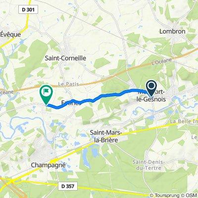 Blistering ride in Yvré-l'Évêque