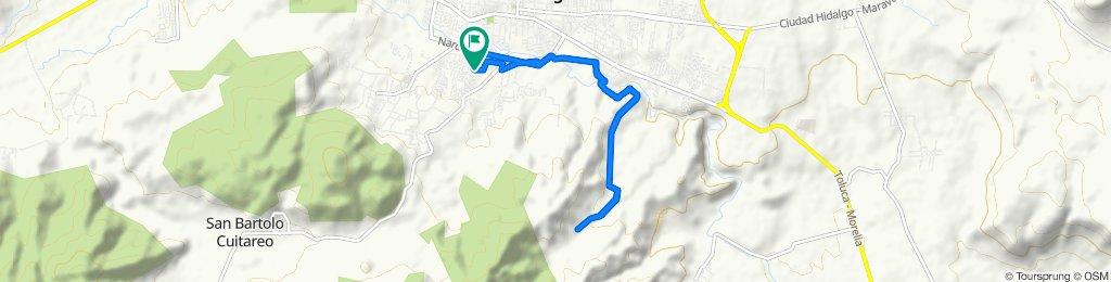 Restful route in Ciudad Hidalgo