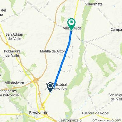 Calle Gijon Sevilla Sc 27A nach Carretera Villafer 1009, Villaquejida