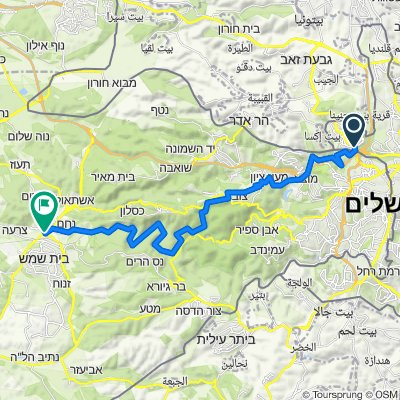 From Jerusalem - Zuba - to Biet Shemesh