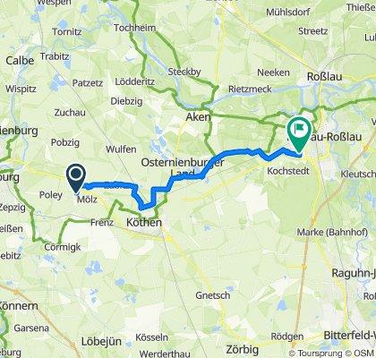 Steady ride in Bernburg (Saale)