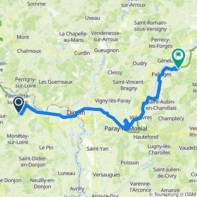Relaxed route in Génelard