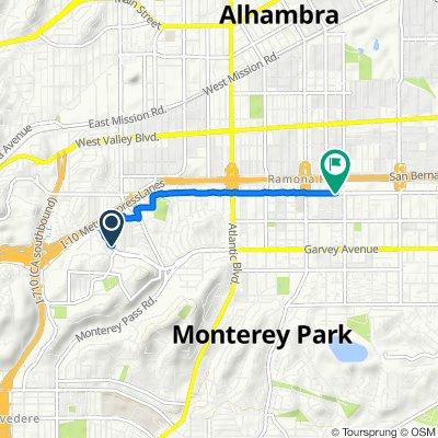 1807 W Garvey Ave, Alhambra to 314 E Hellman Ave, Monterey Park